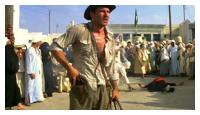 Harrison Ford et le guerrier egyptien
